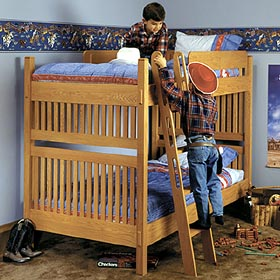 Arts and Crafts Bunk Bed Woodworking Plan