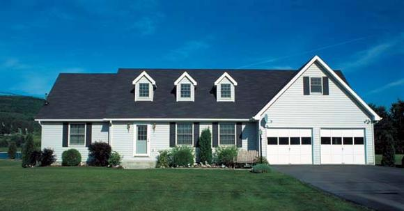 Cape Cod, Country, Traditional House Plan 10386 with 3 Beds, 2 Baths, 2 Car Garage Elevation