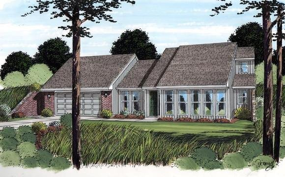 Contemporary, Earth Sheltered, Retro House Plan 10482 with 3 Beds, 2 Baths, 2 Car Garage Elevation