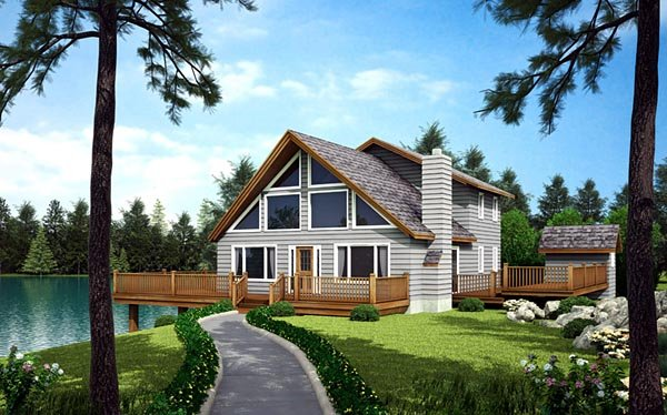 A-Frame, Cabin, Contemporary House Plan 10515 with 3 Beds, 3 Baths Picture 1