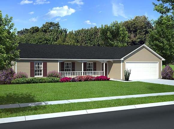Country, Ranch, Traditional House Plan 10674 with 3 Beds, 2 Baths, 2 Car Garage Elevation