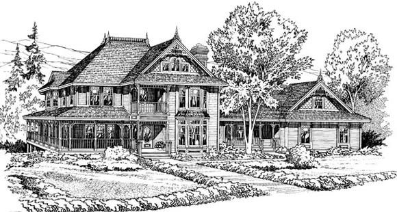 Victorian House Plan 10689 with 5 Beds, 4 Baths, 2 Car Garage Elevation