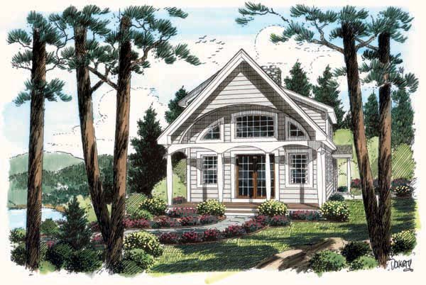 Coastal, Contemporary, Cottage House Plan 24740 with 2 Beds, 2 Baths Elevation