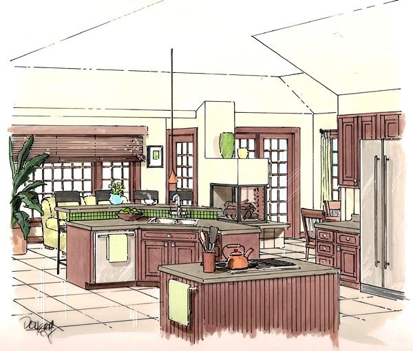 Contemporary, One-Story, Ranch, Traditional House Plan 24802 with 4 Beds, 3 Baths, 3 Car Garage Picture 1