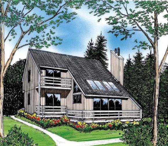 Contemporary, Modern House Plan 26112 with 3 Beds, 2 Baths Elevation