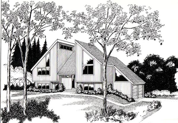 Contemporary House Plan 26115 with 4 Beds, 2 Baths, 2 Car Garage Elevation