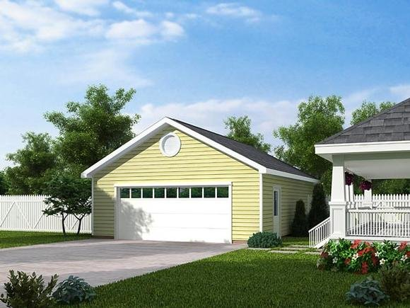Country, Traditional 2 Car Garage Plan 30001 Elevation