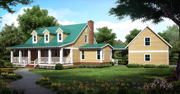 Country, Farmhouse, Traditional House Plan 30500 with 3 Beds, 3 Baths, 2 Car Garage Picture 2