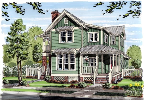 Bungalow, Coastal, Cottage, Country, Farmhouse, Traditional House Plan 30501 with 3 Beds, 3 Baths Elevation
