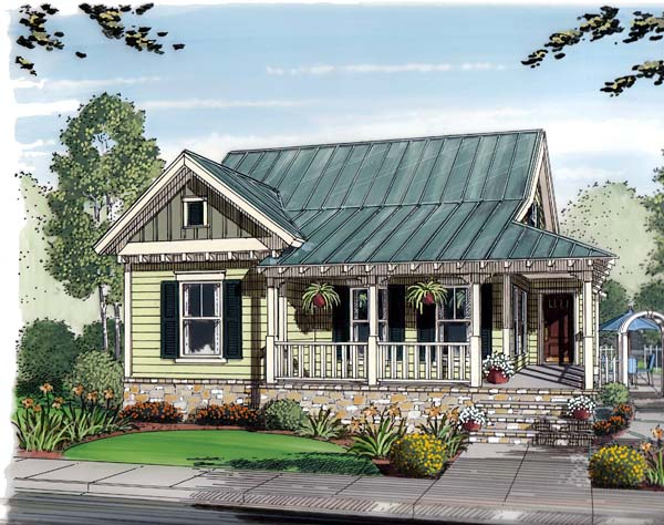Bungalow, Cottage, Country House Plan 30502 with 3 Beds, 2 Baths, 2 Car Garage Elevation