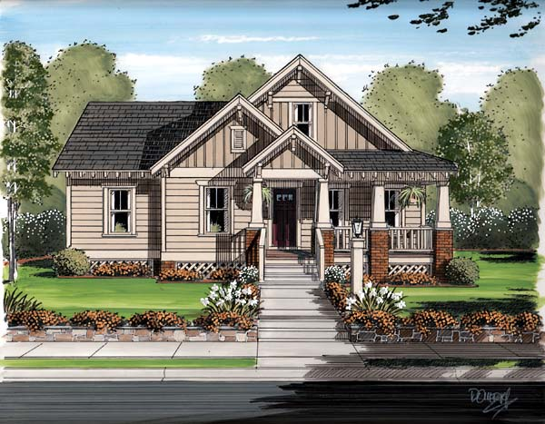 Bungalow, Cottage, Craftsman House Plan 30504 with 6 Beds, 3 Baths, 2 Car Garage Picture 2