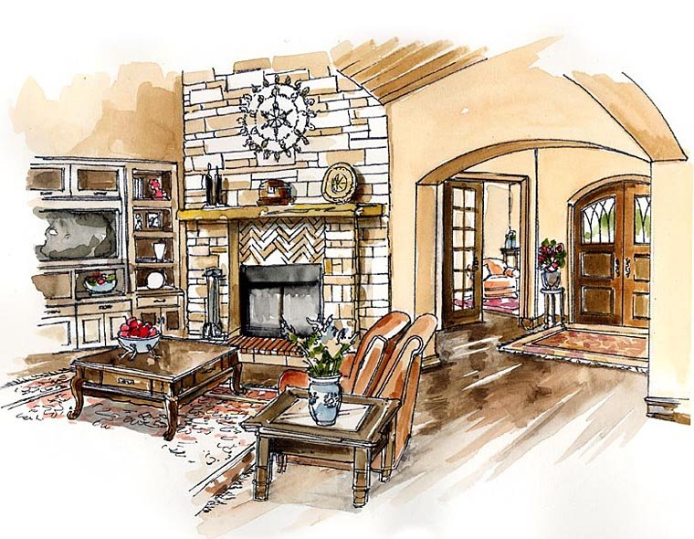 Craftsman, European, Farmhouse, Ranch House Plan 30507 with 3 Beds, 4 Baths, 3 Car Garage Picture 1