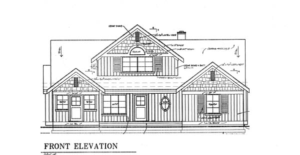 Bungalow, Coastal, Country House Plan 32309 with 2 Beds, 4 Baths, 2 Car Garage Rear Elevation