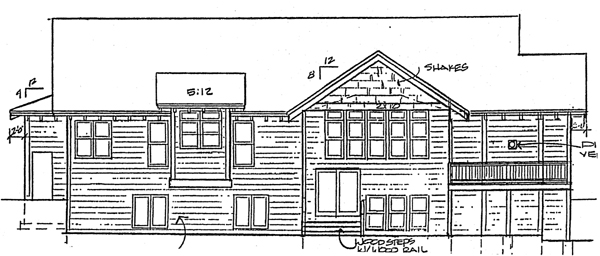 Bungalow, Cape Cod, Country, Traditional House Plan 32375 with 4 Beds, 3 Baths, 3 Car Garage Rear Elevation