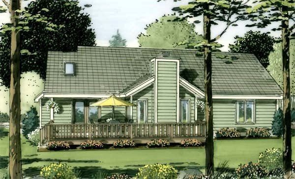 Country, European, One-Story, Ranch, Traditional House Plan 34029 with 3 Beds, 2 Baths, 2 Car Garage Picture 2