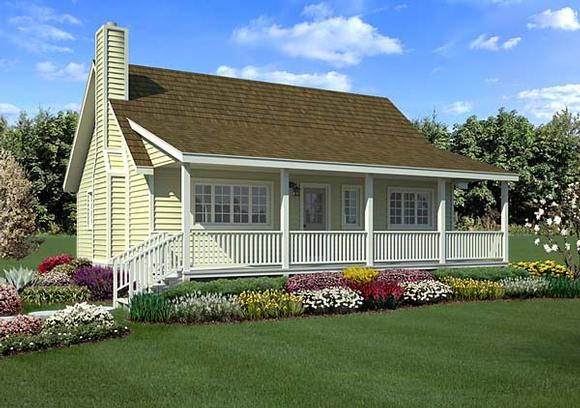 Country, Farmhouse, Traditional House Plan 34600 with 3 Beds, 2 Baths Elevation