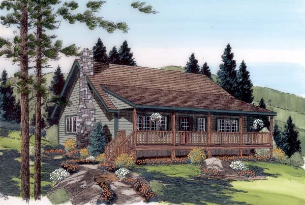 Country, Farmhouse, Traditional House Plan 34600 with 3 Beds, 2 Baths Picture 1