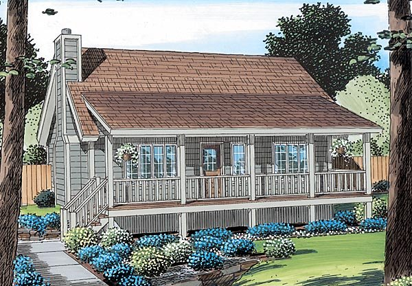 Country, Farmhouse, Traditional House Plan 34600 with 3 Beds, 2 Baths Picture 2