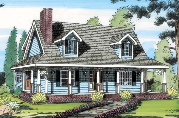 Country, Southern House Plan 34602 with 3 Beds, 3 Baths Picture 1
