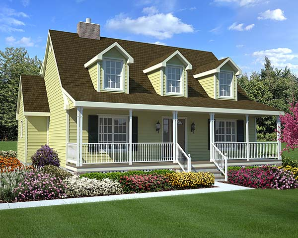 Country, Farmhouse, Southern House Plan 34603 with 3 Beds, 3 Baths Elevation