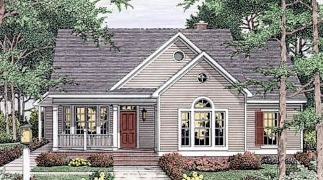 Country, European, Ranch House Plan 40006 with 3 Beds, 2 Baths, 2 Car Garage Elevation