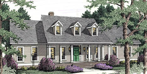 Country, Ranch House Plan 40010 with 3 Beds, 2 Baths, 2 Car Garage Elevation