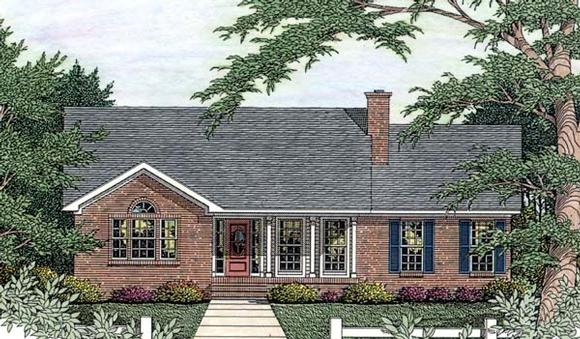 House Plan 40028 with 3 Beds, 2 Baths, 2 Car Garage Elevation