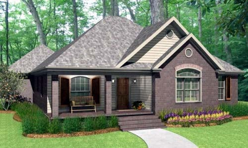 Traditional House Plan 40036 with 3 Beds, 2 Baths, 2 Car Garage Elevation