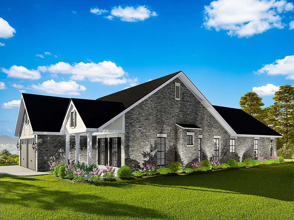 Cape Cod, Coastal, Cottage, Country, Southern, Traditional House Plan 40040 with 3 Beds, 2 Baths, 2 Car Garage Picture 1