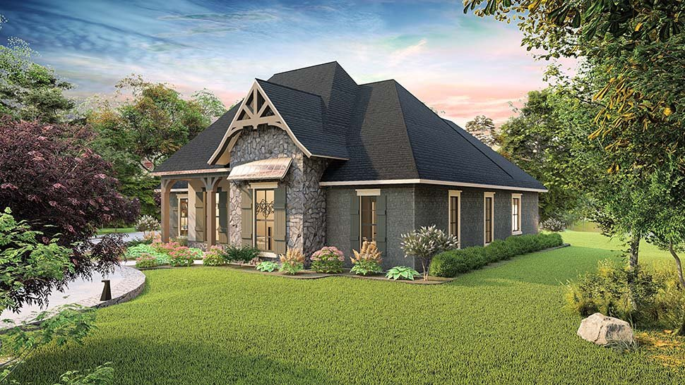 Cottage, Country, Craftsman, Southern, Traditional House Plan 40043 with 4 Beds, 3 Baths, 2 Car Garage Picture 1