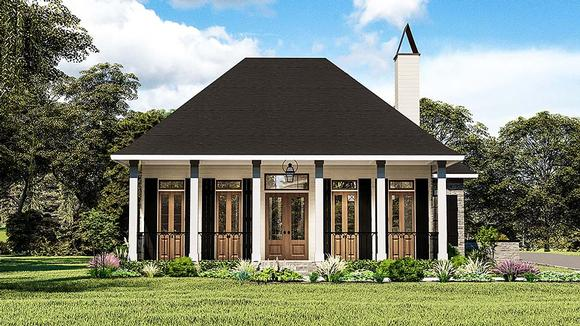 Cottage, Country, Southern, Traditional House Plan 40044 with 3 Beds, 2 Baths, 2 Car Garage Elevation