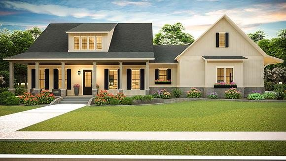 Country, Farmhouse, Southern House Plan 40045 with 3 Beds, 2 Baths, 2 Car Garage Elevation