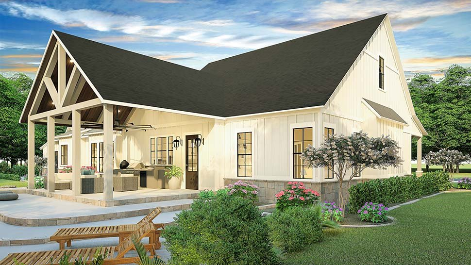 Country, Farmhouse, Southern House Plan 40045 with 3 Beds, 2 Baths, 2 Car Garage Picture 1