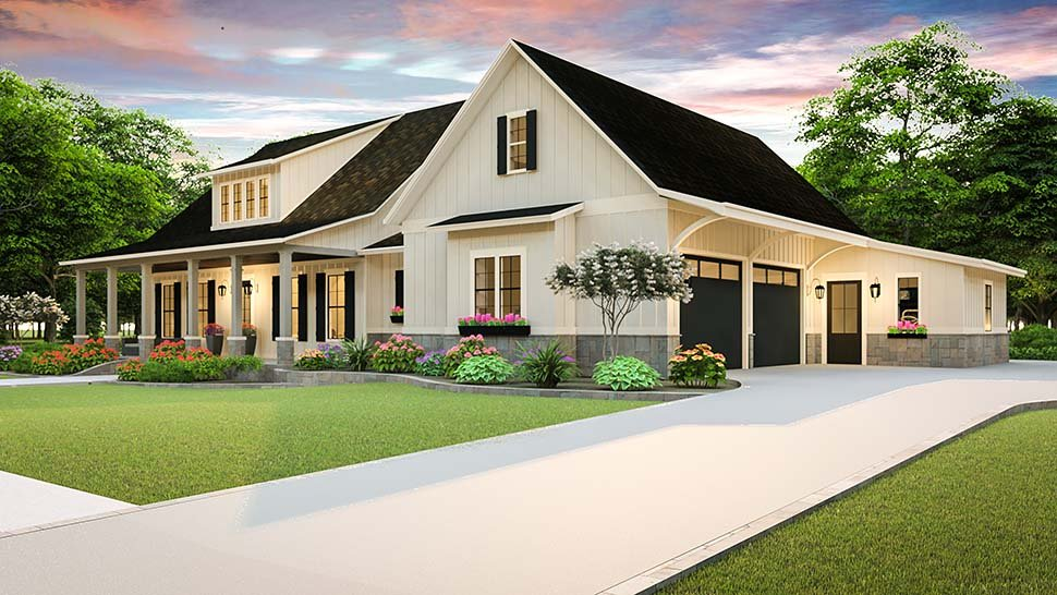Country, Farmhouse, Southern House Plan 40045 with 3 Beds, 2 Baths, 2 Car Garage Picture 3