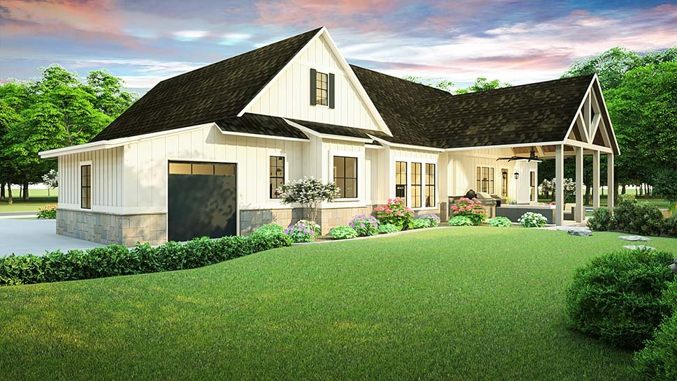 Country, Farmhouse, Southern House Plan 40045 with 3 Beds, 2 Baths, 2 Car Garage Picture 4