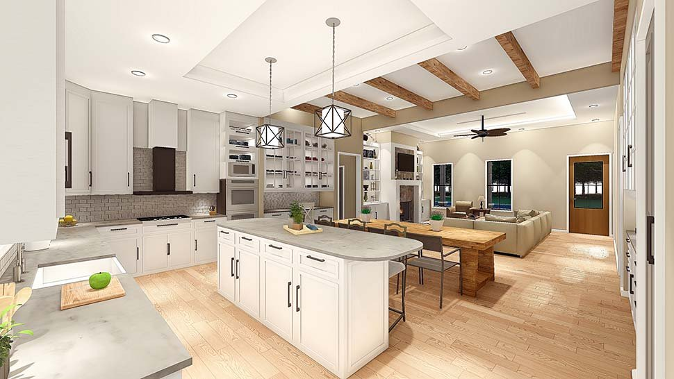 Country, Farmhouse, Southern House Plan 40045 with 3 Beds, 2 Baths, 2 Car Garage Picture 6