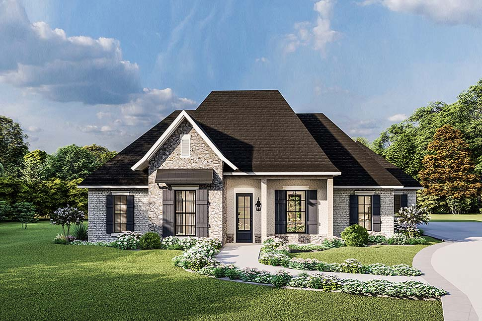 Country, Craftsman, European, Farmhouse, Southern, Traditional House Plan 40049 with 4 Beds, 3 Baths, 2 Car Garage Elevation