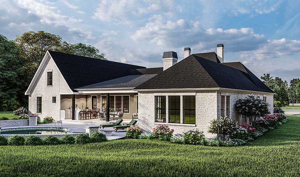 Country, Farmhouse, French Country, Southern, Traditional House Plan 40051 with 4 Beds, 3 Baths, 2 Car Garage Picture 7