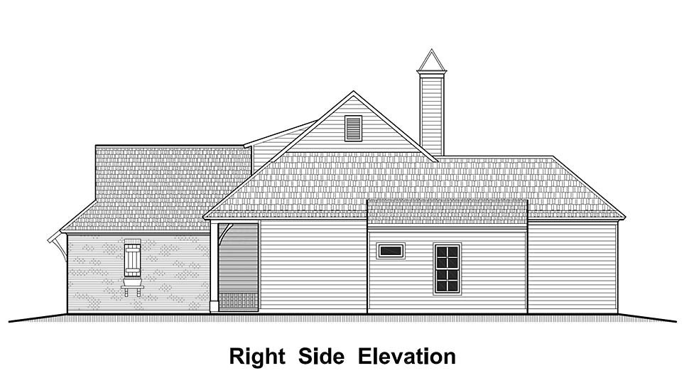 Country, French Country, Southern House Plan 40324 with 4 Beds, 2 Baths, 2 Car Garage Picture 1