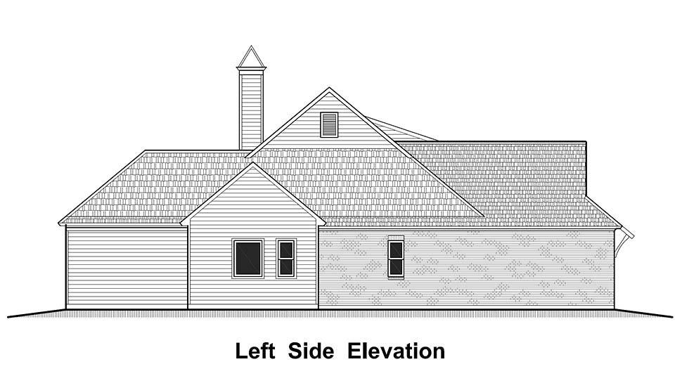 Country, French Country, Southern House Plan 40324 with 4 Beds, 2 Baths, 2 Car Garage Picture 2