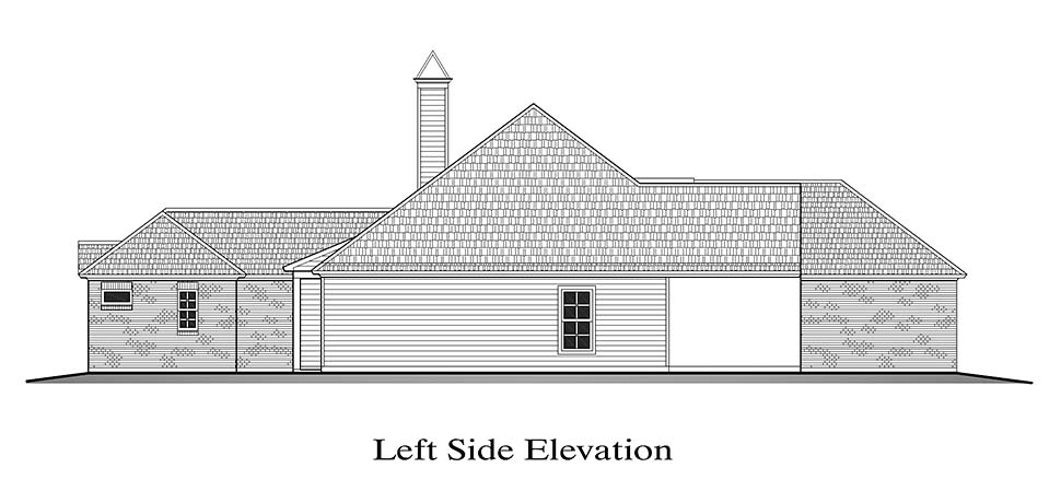 European, French Country House Plan 40326 with 4 Beds, 2 Baths, 2 Car Garage Picture 2