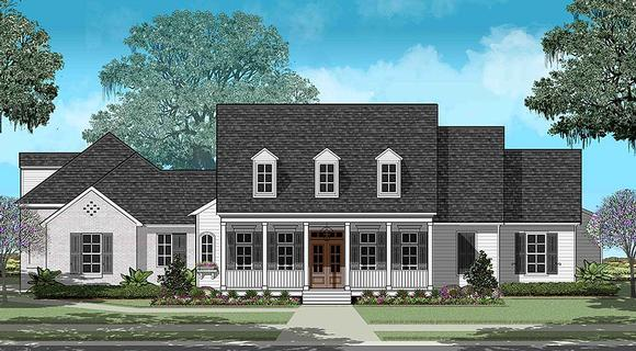 Colonial, Country, French Country, Southern, Traditional House Plan 40330 with 4 Beds, 3 Baths, 3 Car Garage Elevation