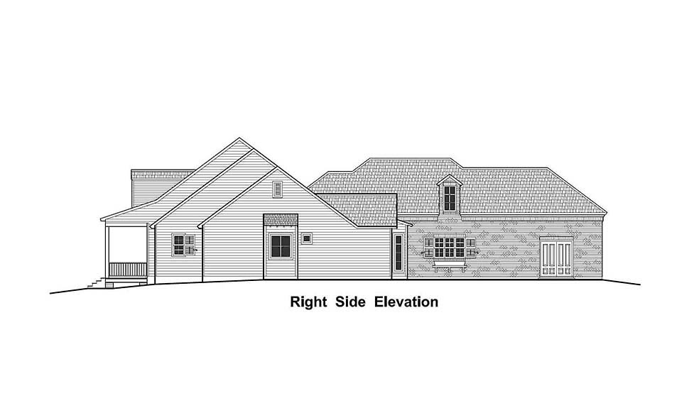 Colonial, Country, French Country, Southern, Traditional House Plan 40330 with 4 Beds, 3 Baths, 3 Car Garage Picture 1