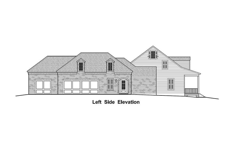 Colonial, Country, French Country, Southern, Traditional House Plan 40330 with 4 Beds, 3 Baths, 3 Car Garage Picture 2