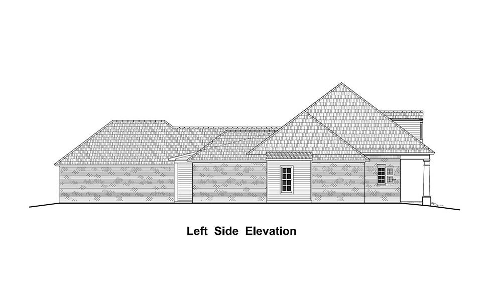 Colonial, Country, French Country, Southern House Plan 40332 with 4 Beds, 3 Baths, 3 Car Garage Picture 2