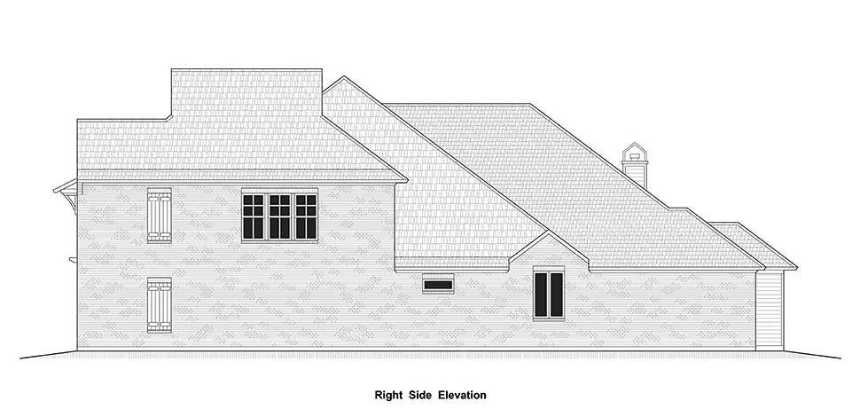 Country, European, French Country House Plan 40337 with 4 Beds, 4 Baths, 2 Car Garage Picture 8