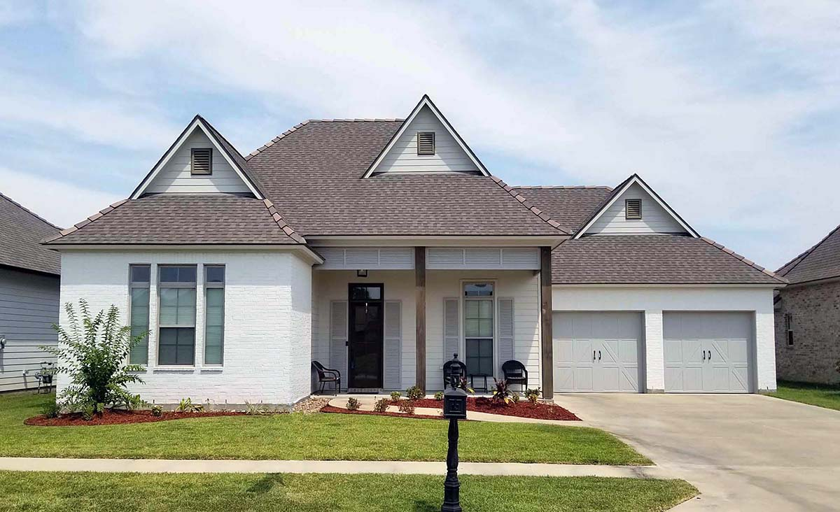 Contemporary, French Country, Southern House Plan 40343 with 4 Beds, 4 Baths, 2 Car Garage Elevation