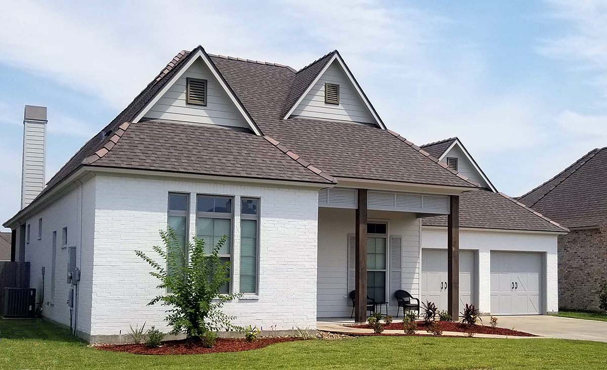 Contemporary, French Country, Southern House Plan 40343 with 4 Beds, 4 Baths, 2 Car Garage Picture 2