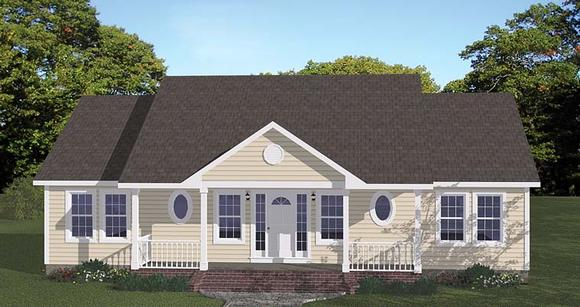Ranch, Traditional House Plan 40649 with 3 Beds, 2 Baths Elevation