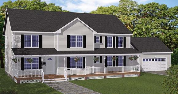 Colonial, Country, Southern, Traditional House Plan 40669 with 5 Beds, 4 Baths, 2 Car Garage Elevation